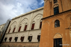 Exterior of Parliament side of Palermo's Palazzo del Normanni