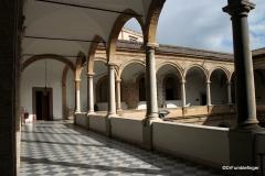 Interior of Parliament side of Palermo's Palazzo del Normanni