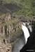 Rock formation near waterfalls