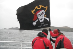 Putting up the pirate flag