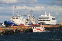 The Australis at dock, Puenta Arenas