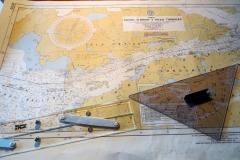 Map on the Bridge of the Australis