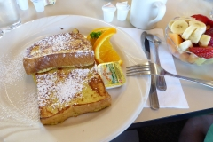 French toast and fruit at Peg's