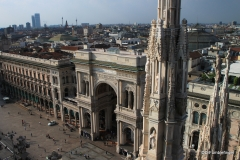 Galleria Vittorio Emanuele II, viewed from the roof of the Duomo in Milan