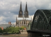 Cologne Cathedral, Train Bridge and Rhine River
