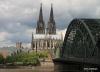 Cologne Cathedral, Train Bridge and Rhine River