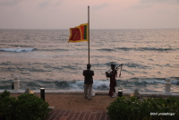 Bagpipes at Sunset, Colombo