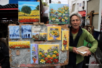Artist in Montmartre, Paris