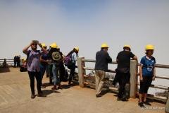 Visitors on the rim of the Poas Volcano