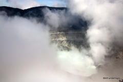 Clearing view, Poas Volcano