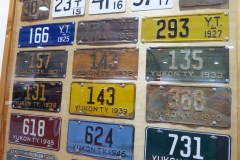 License plates, Yukon Transporation Museum