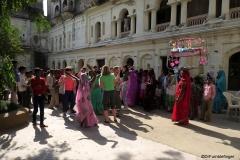 Celebrating the birth of a child, Rajisthan, India