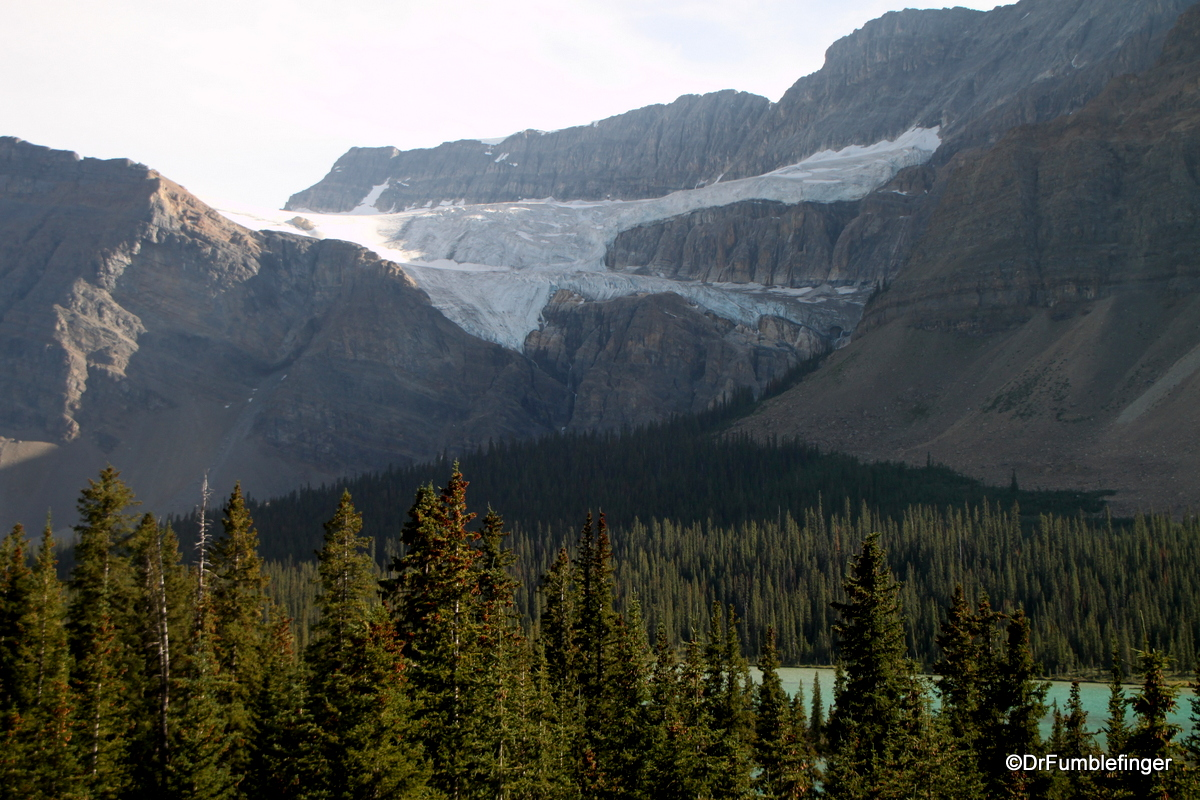 Crowfoot Glacier, and Bow Lake, Banff National Park