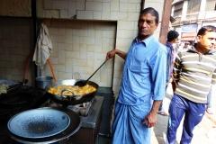 Cooking treats at a Delhi Sweet Shop