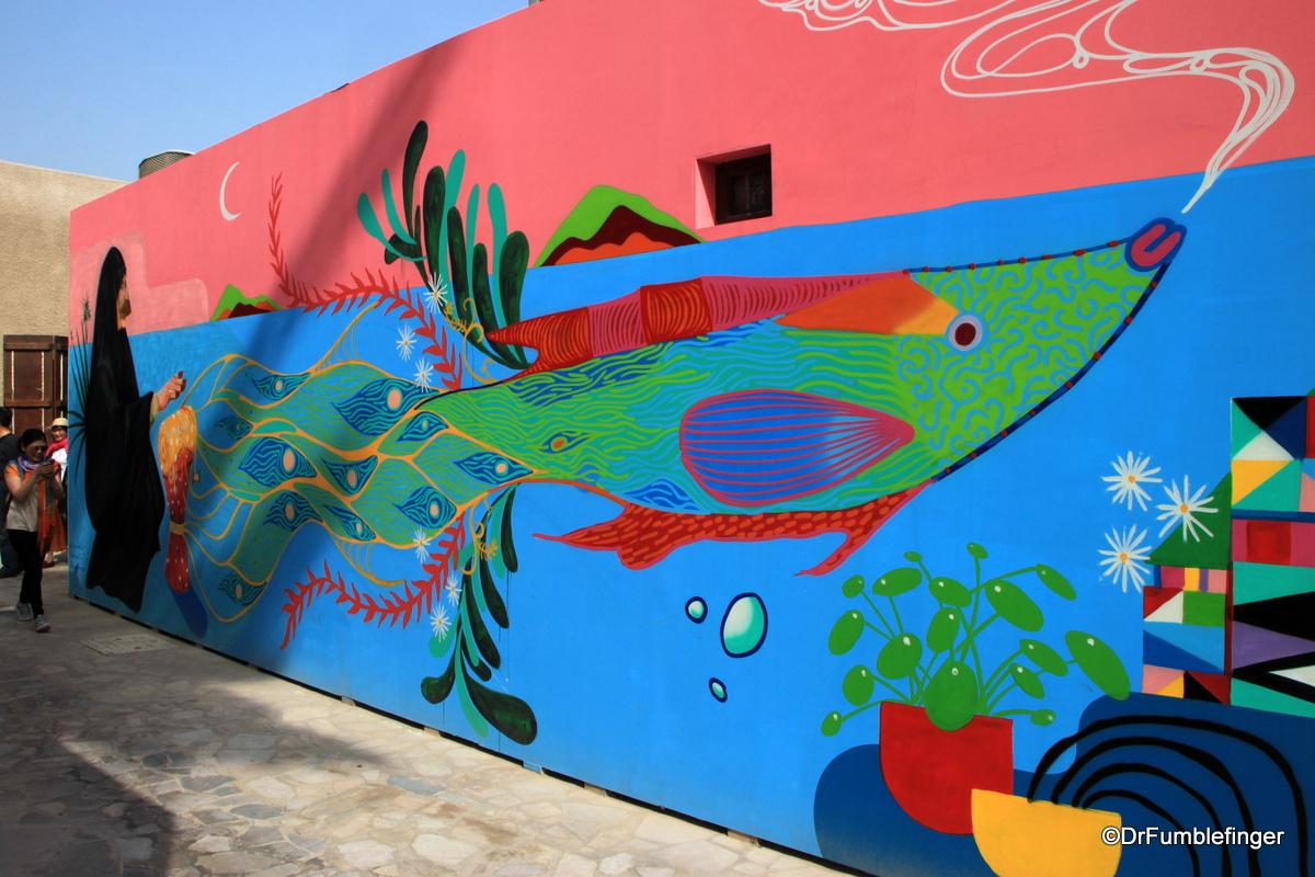 Street art in the Al Fahidi Historic District