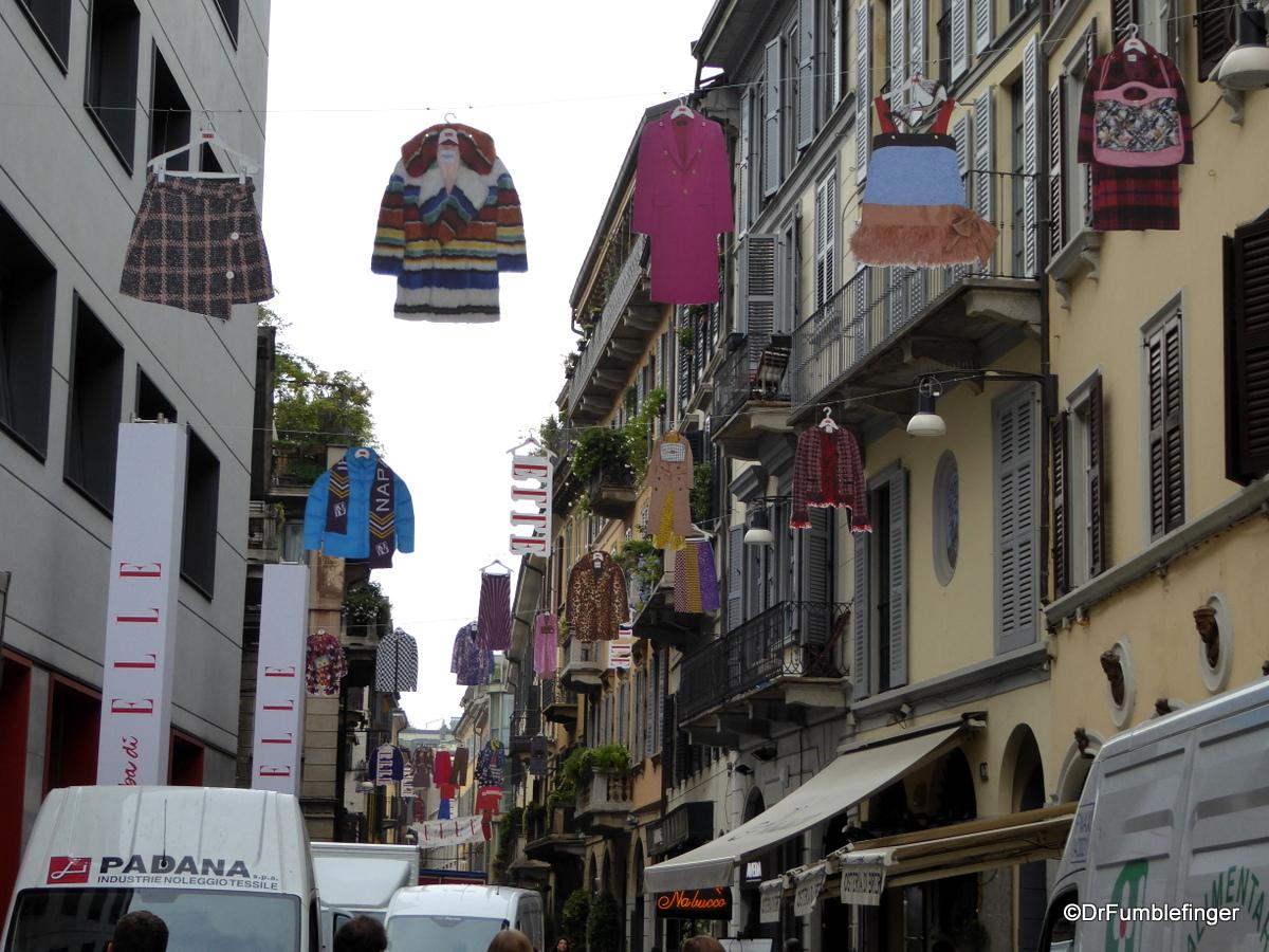 Brera neighborhood  during Milan's Fashion Week
