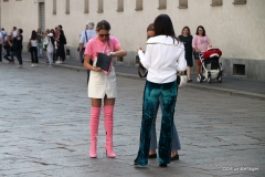 Models at Milan's Duomo during Fashion Week