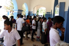 Line outside church, St. Mary's Cathedral, Trincomale