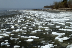 Pier, Victoria Beach, surrounded by Ice
