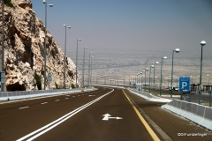 Road climbing up Jebel Hafeet
