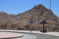 Parking area atop Jebel Hafeet