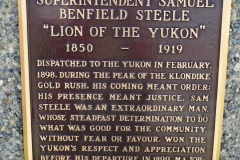 Sam Steele, the Lion of the Yukon, outside Whitehorse's RCMP office