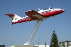 Snowbirds jet, Moose Jaw, Saskatchewan