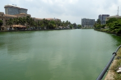 Lagoon north of the Old Parliament Building, Colombo