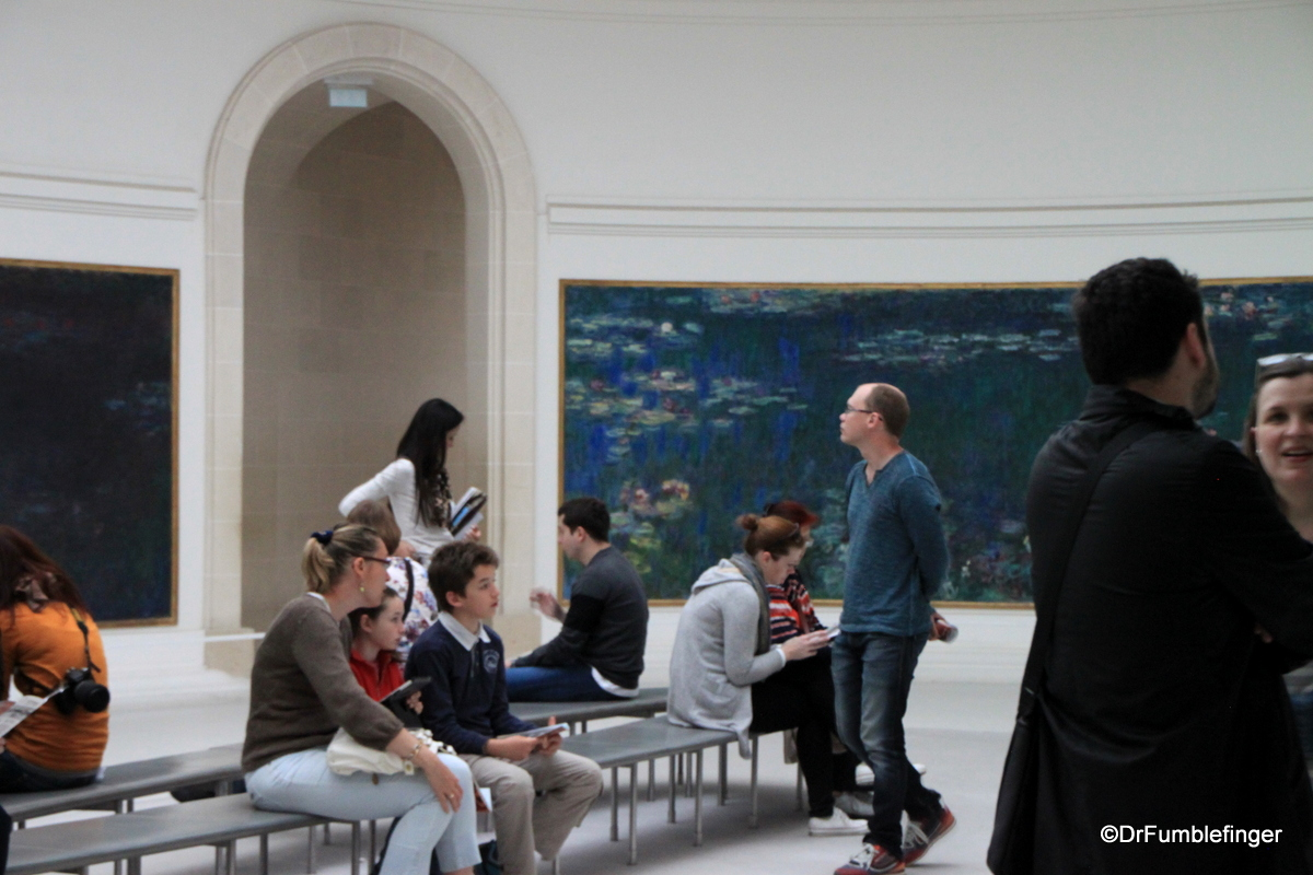 Monet's water lilies, the Orangerie Museum, Paris