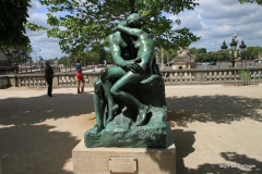 Rodin statue outside the Orangerie Museum, Paris