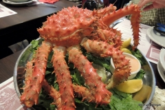 Southern King Crab dinner, Ushuaia