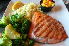 Salmon, Ray's Restaurant, Seward