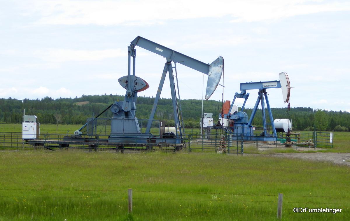 Oil pumps, Rural Alberta