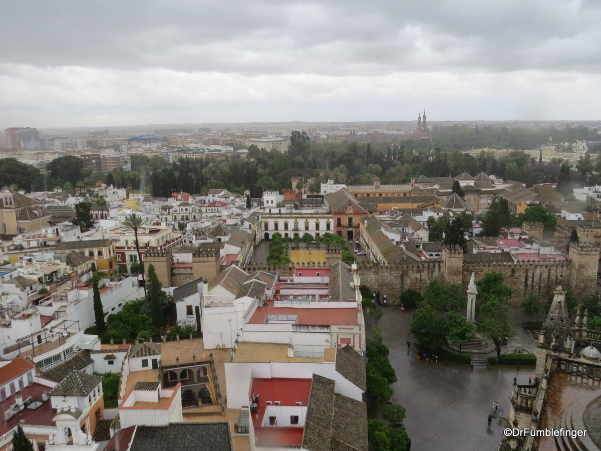 Views of Seville from the Cathedral's Giralda -- the Alcazar