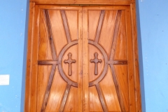 Entry door to St. Mary's Cathedral, Batticaloa