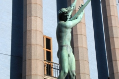 Bronze statue of Orpheus, Royal Concert Hall, Stockholm