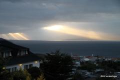Views from Ushuaia, Argentina (Godbeams)