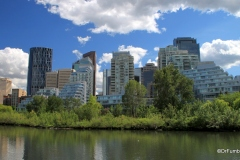View of downtown Calgary from Prince's Island Park
