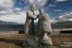 Puerto Natales - Statue Alberto de Agostini