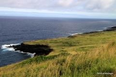 View of Kau coast and Punalu'u Black Sand Beach