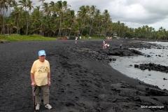 Dad at Punalu'u Black Sand Beach