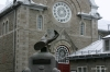 Vieux Quebec - Statue and old church