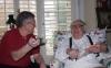 Ray Bradbury & Wayne Houser sharing a laugh