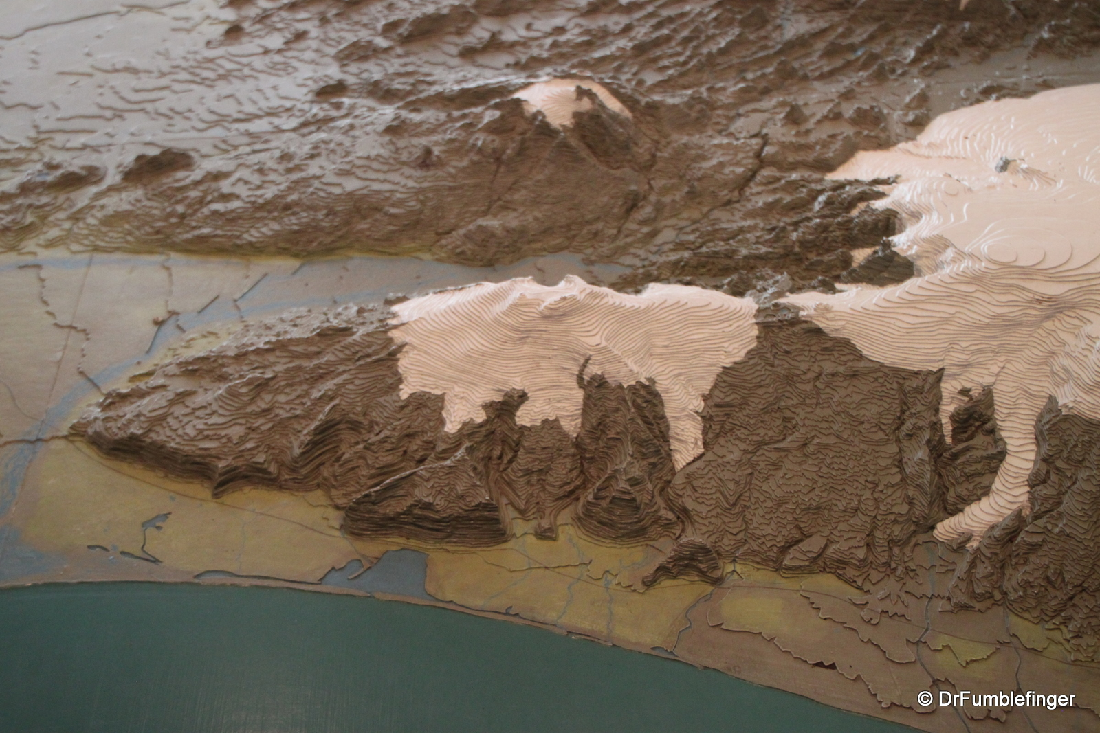 Relief Map of Iceland in City Hall