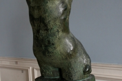 Torso of a young woman with arched back.  Rodin Museum, Paris