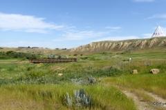 Saamis TeePee overlooking Seven Persons Creek Coulee