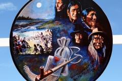 Art inside the Saamis TeePee, Lethbridge