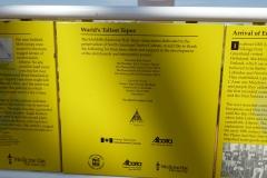 Sample of signage inside the Saamis TeePee, Lethbridge