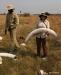 Sylvia holding elephant tusk