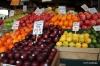 Seattle's Pike Market fruit vendor